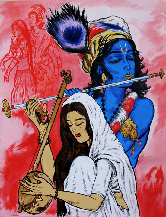 Krishna and Mirabai